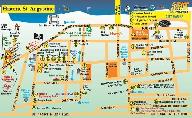 Сент-Огастин карта города
