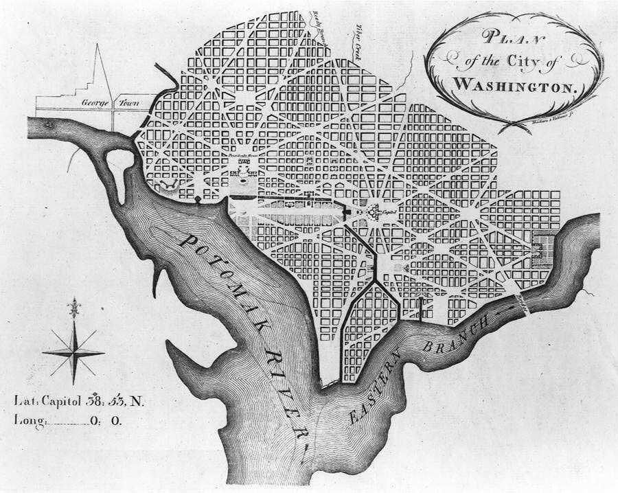 Вашингтон DC план города