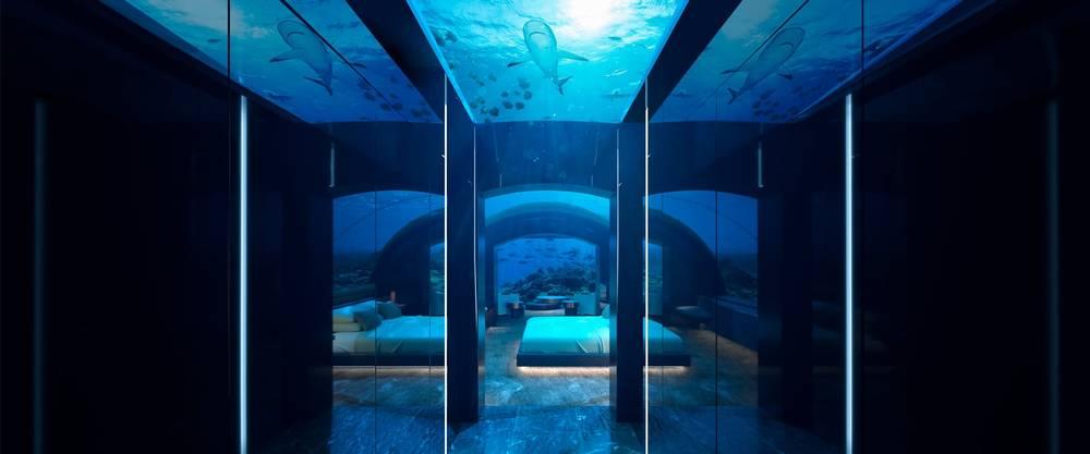 номер под водой на мальдивах