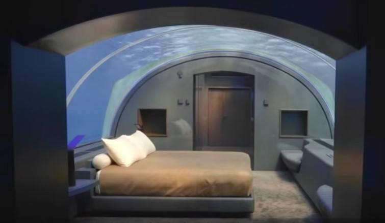 Спальня под водой на Мальдивах