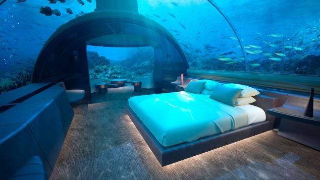 Подводные апартаменты на Мальдивах