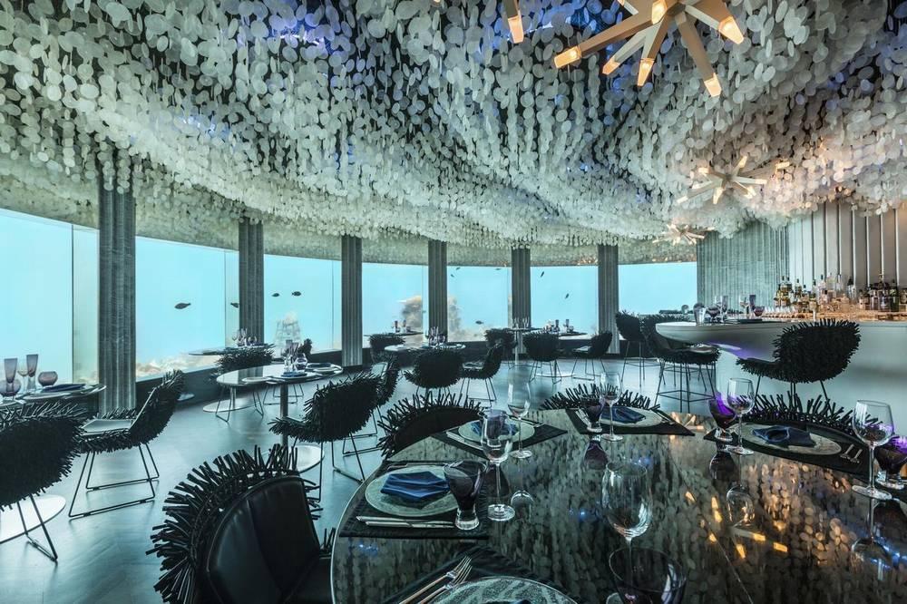 нияма мальдивы подводный ресторан