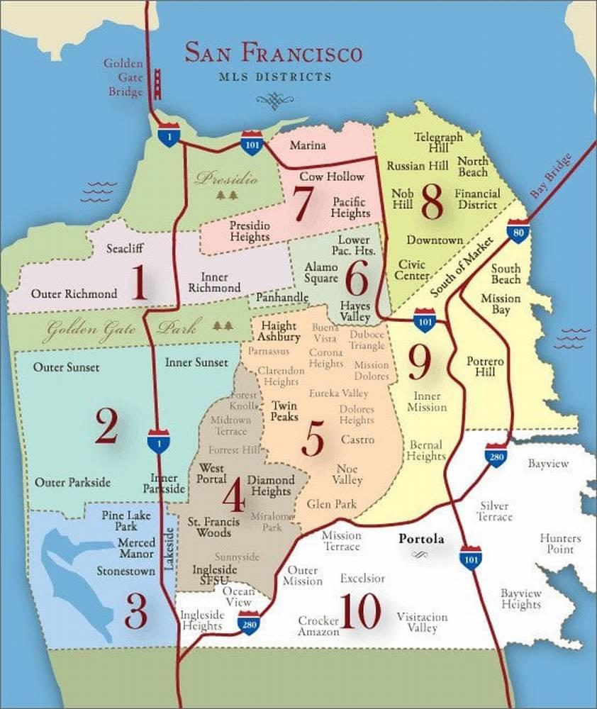 Районы Сан-Франциско