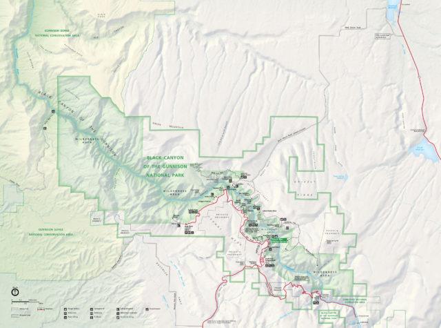 Черный каньон Ганнисона карта парка