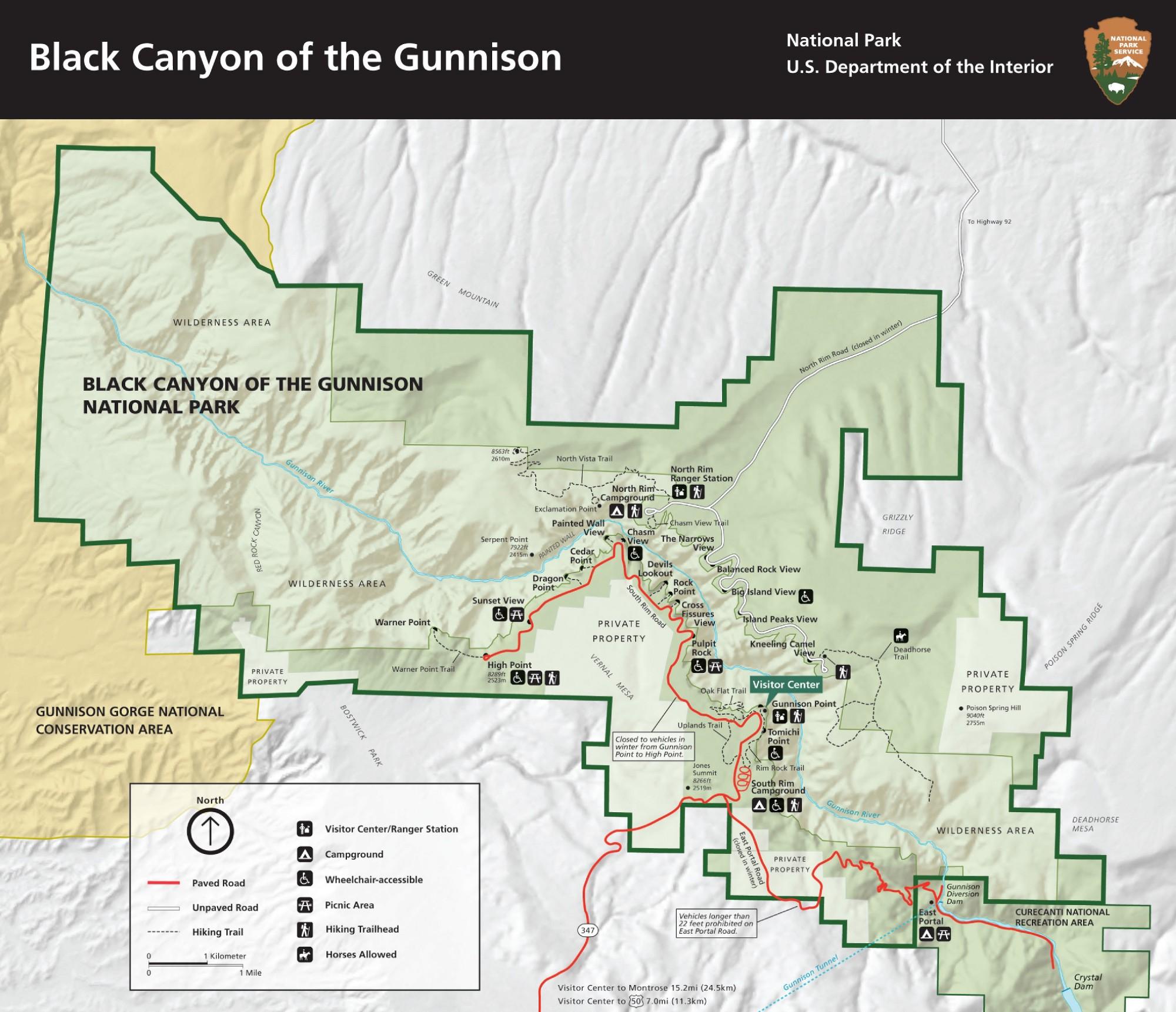 Черный каньон Ганнисона что посмотреть
