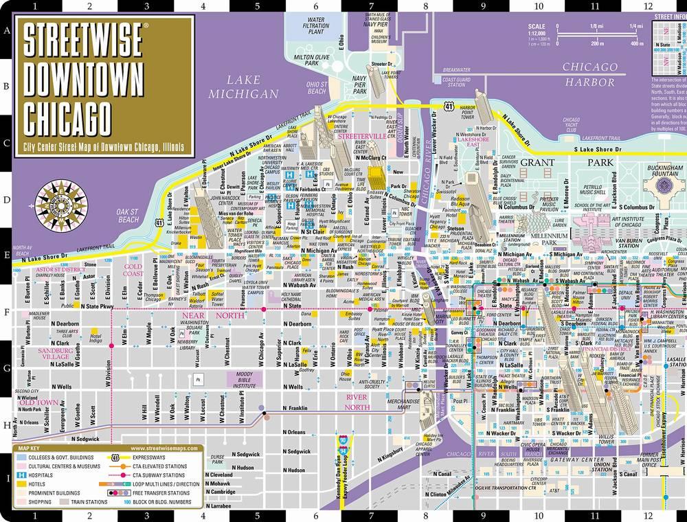 Карта Чикаго