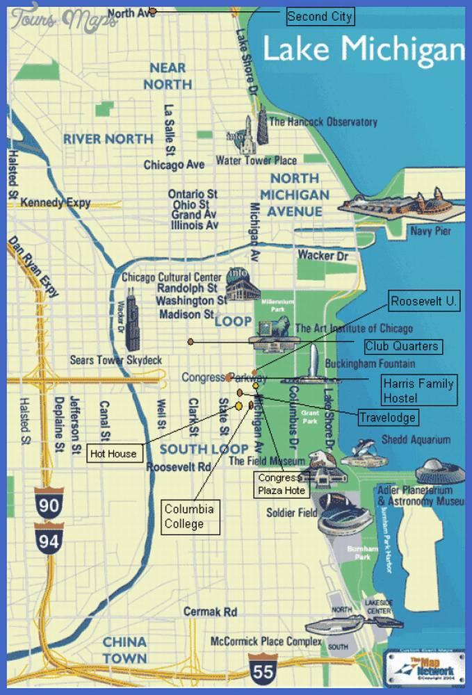 Карта Чикаго Луп