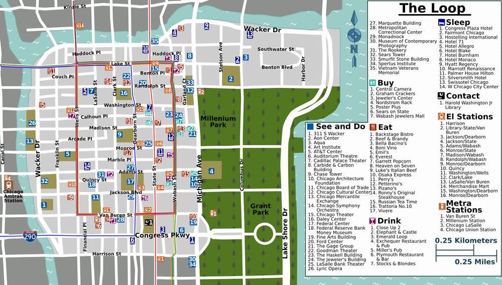 Схема Чикаго Луп