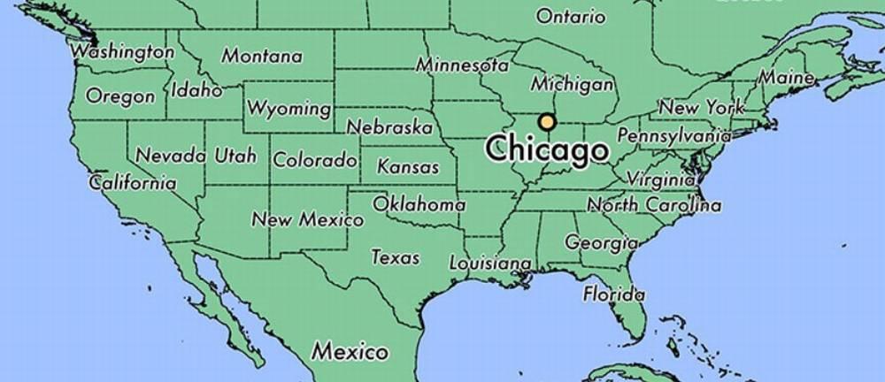 Чикаго на карте США
