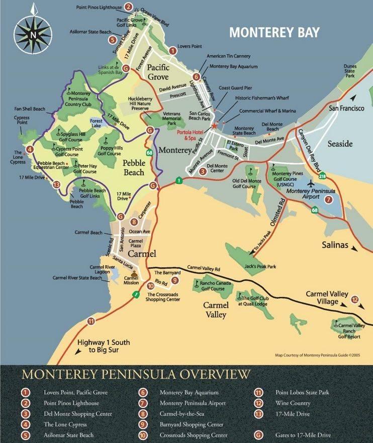 Монтерей карта