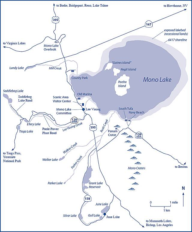 Как добраться до озера Моно