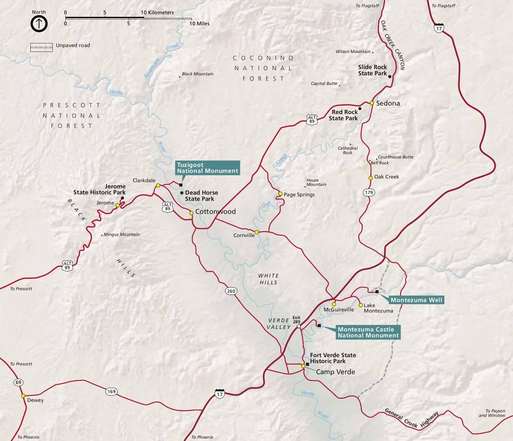 Национальный монумент Тузигут на карте