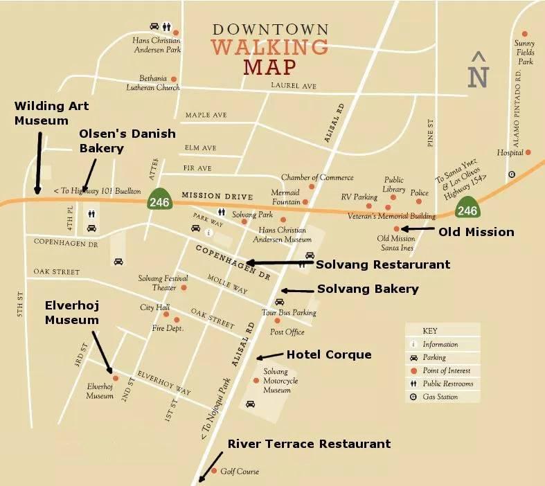 Солванг туристическая карта