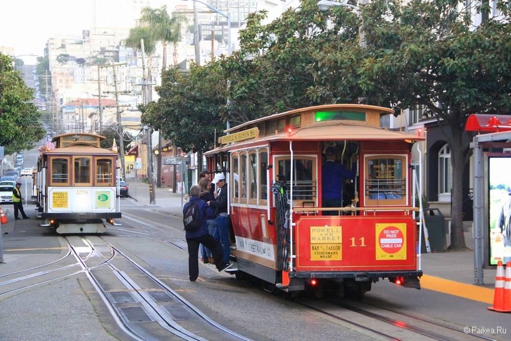 поездка в калифорнию трамвай в сан франциско