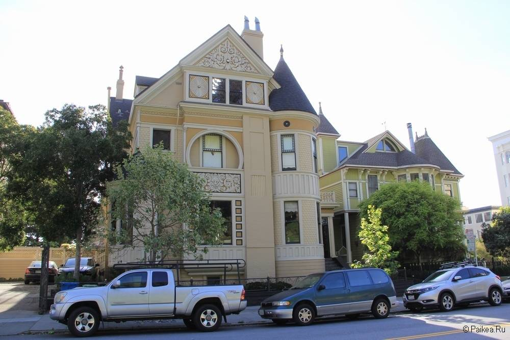 Достопримечательности Сан-Франциско красивый дом