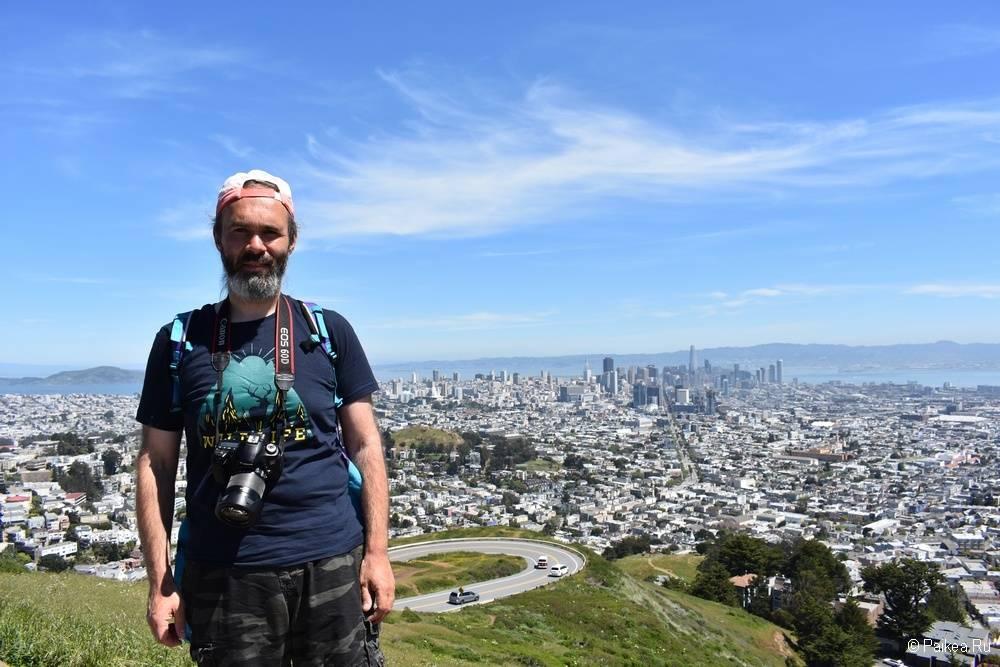 Вид на Сан-Франциско с Твин Пикс