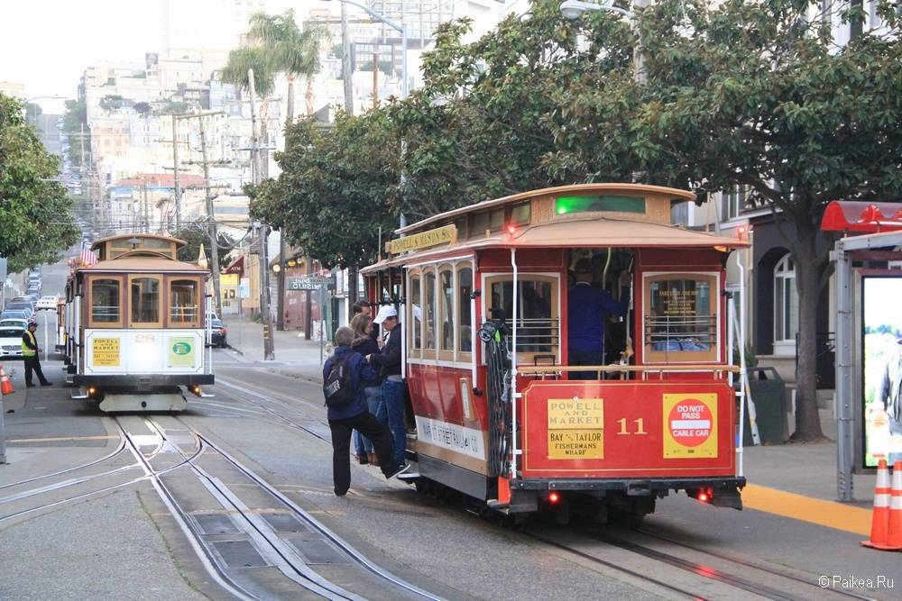Достопримечательности Сан-Франциско кабельный трамвай