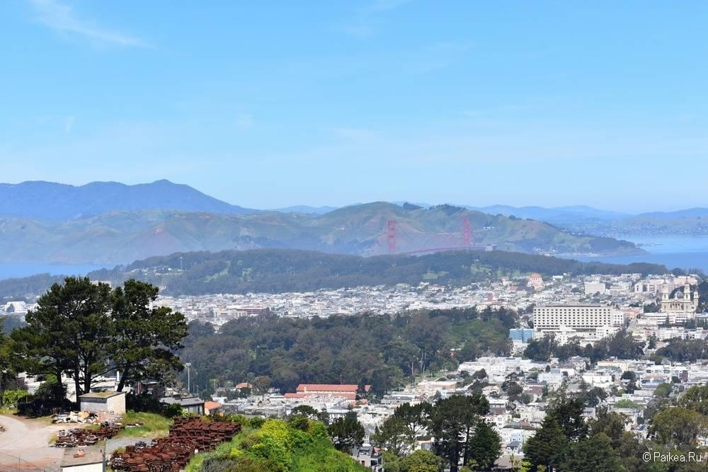 Вид с Твин Пикс на Сан-Франциско