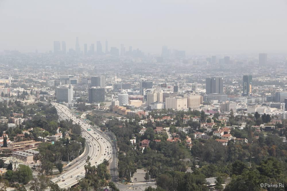 Малхолланд Драйв Голливуд Боул Оверлук Лос Анджелес