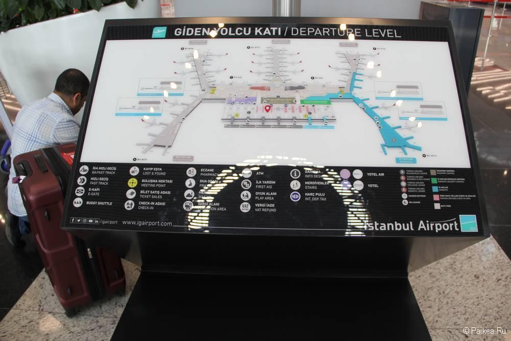 Новый аэропорт Стамбула схема