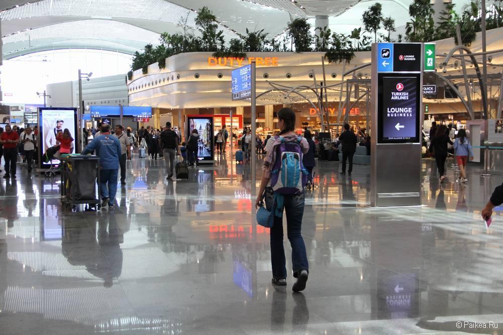Пересадка в новом аэропортк Стамбула Туркиш Эйрлайнс 19