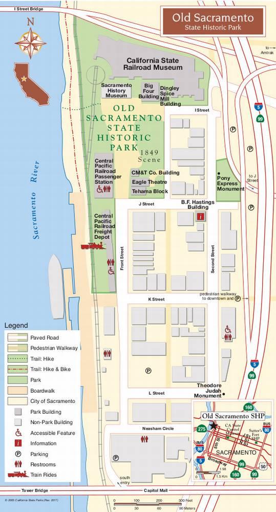 Карта Олд-Сакраменто