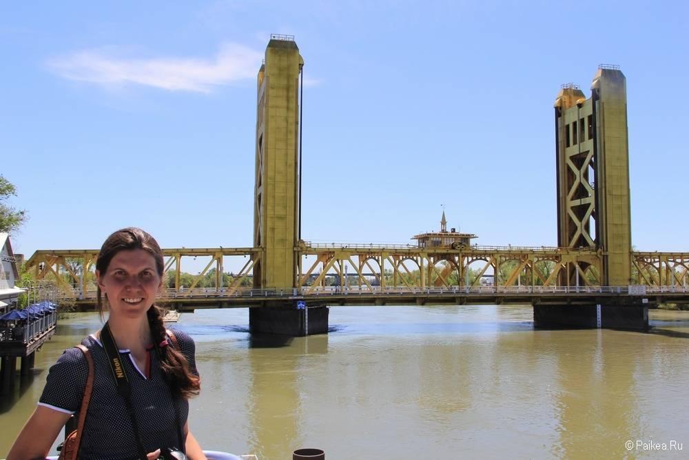 Мост в Сакраменто Калифорния