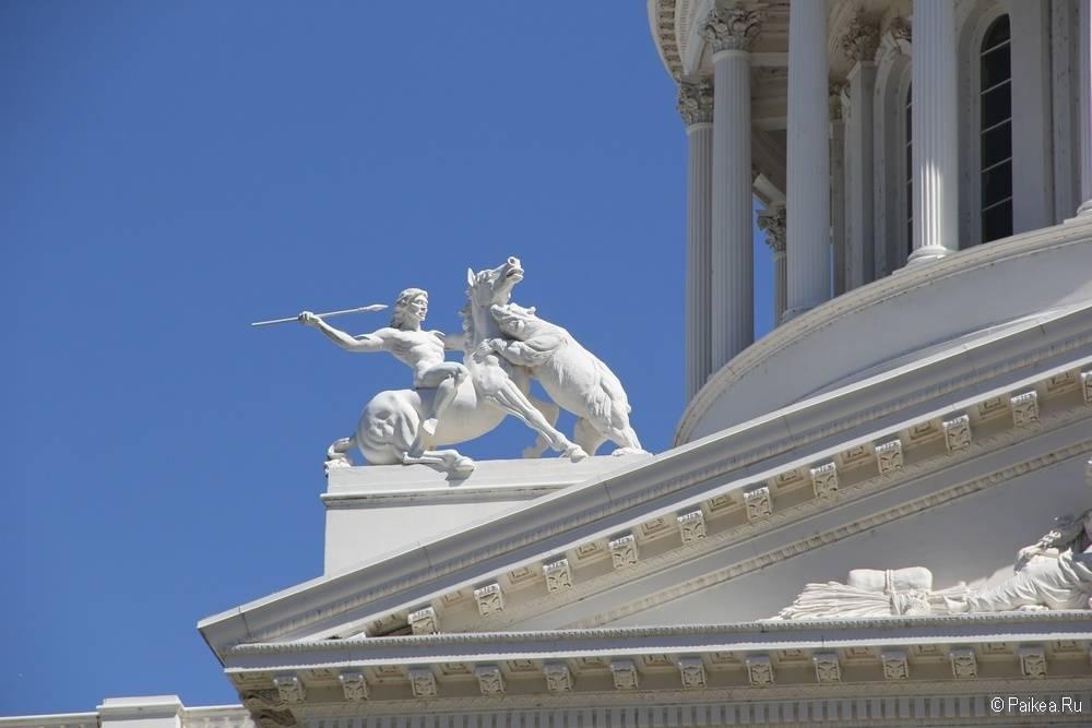 Здание Капитолия Сакраменто Калифорния