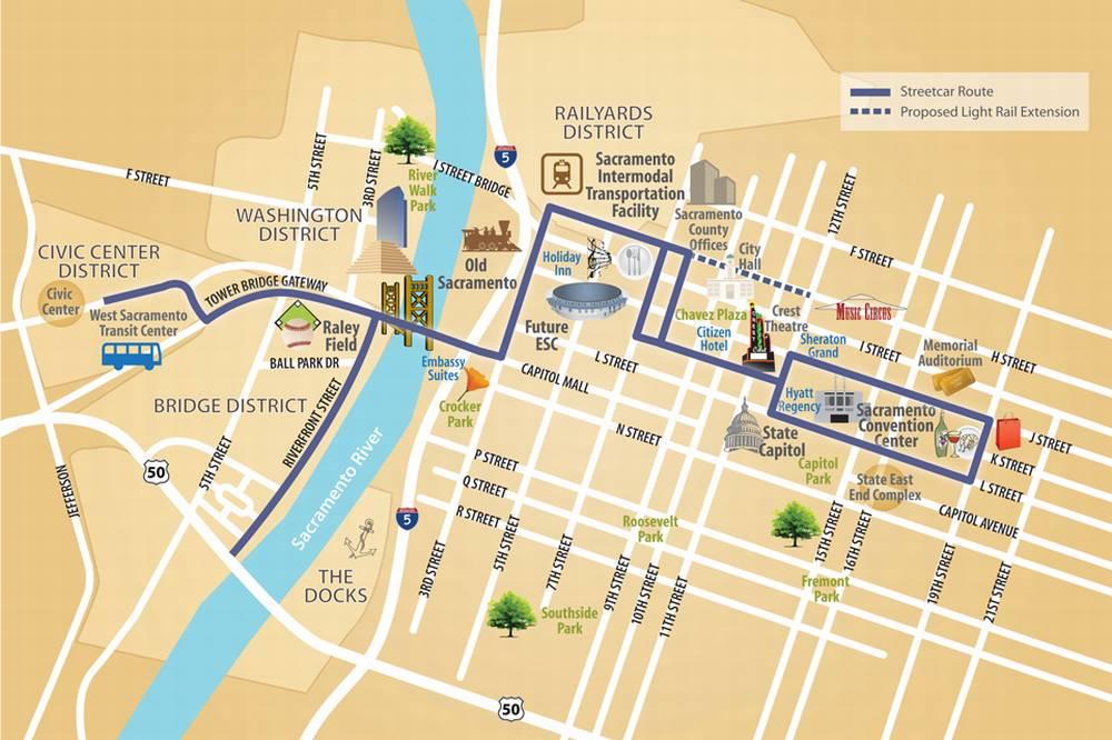 Туристический транспорт в Сакраменто