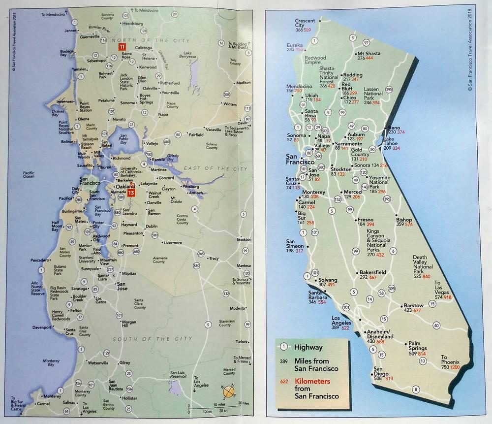 сан-франциско на карте
