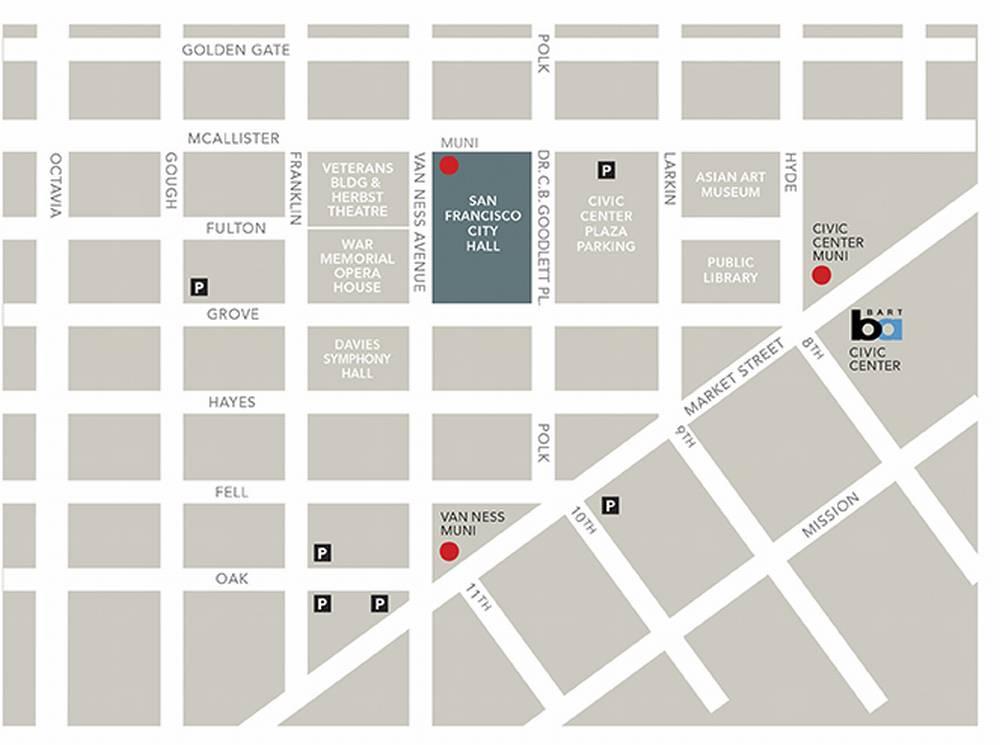 Сити-холл Сан-Франциско схема парковок