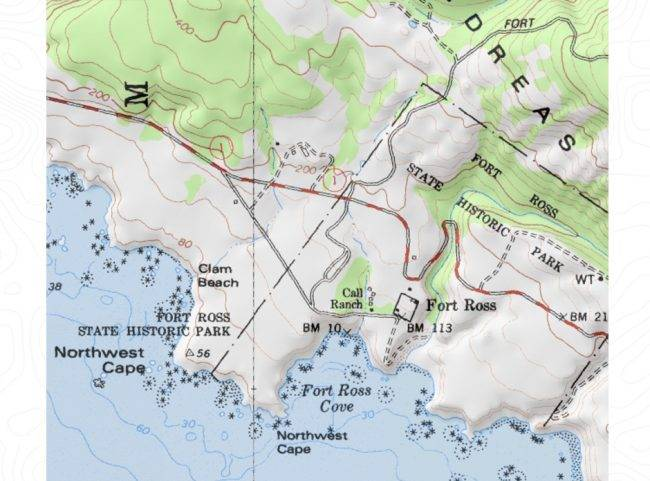 карта форт росс